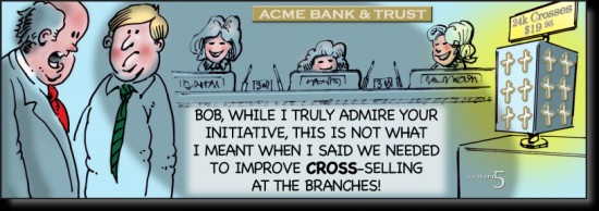 Increase-ARPU-Wallet-Share-Cross-Selling-Funny-Cartoon