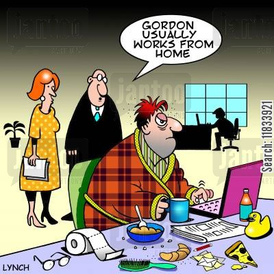 Gordon usually works from home.